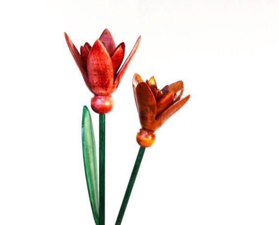 Offene Blüte drechseln