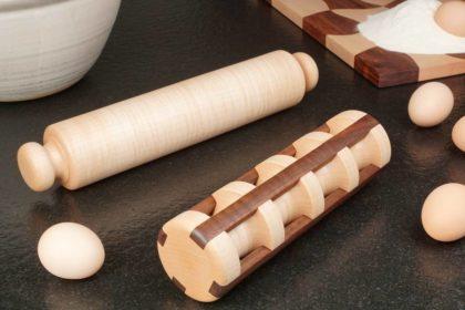 Nudelhölzer – Nudelholz und Ravioli-Rolle drechseln