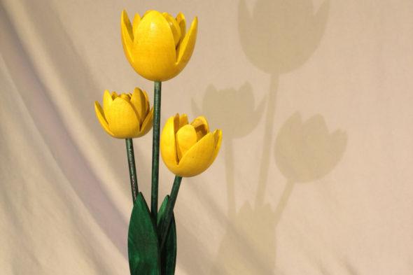 Tulpe drechseln