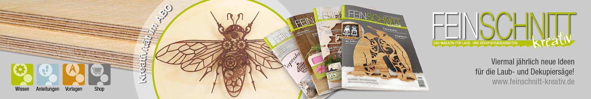FEINSCHNITTkreativ | Magazin für Laub- und Dekupiersägevorlagen