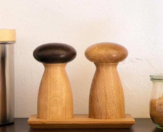 Pilzmühlen mit Untersetzer drechseln