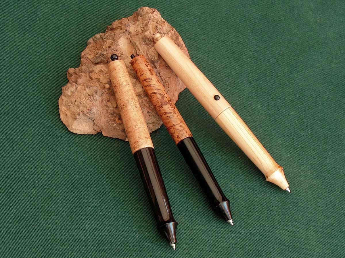 Kugelschreiber ohne Bausatz drechseln