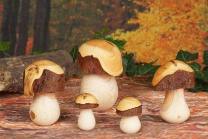Pilze drechseln