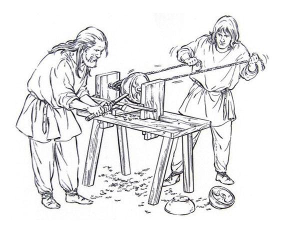 Das Drechselhandwerk zur Zeit der Wikinger